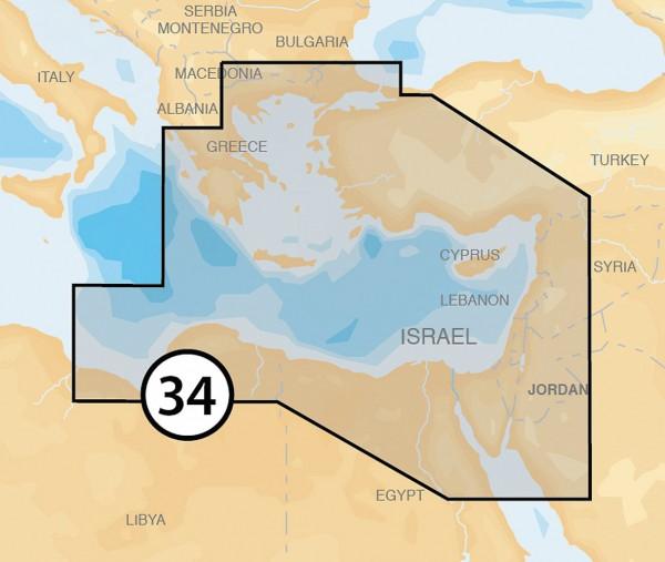 Navionics Platinum +: 34P+ Méditerranée orientale
