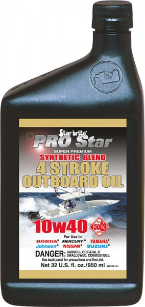 Starbrite® Super Premium Synthetic Blend 4 Stroke Oil SAE10W40