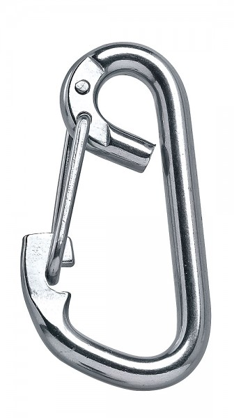 Carabiner with spring clamp