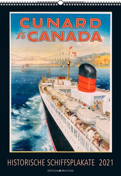 Historische Schiffsplakate Kalender 2021