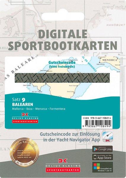 Digitale Sportbootkarte Satz 9