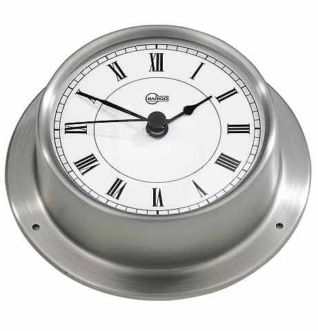 Stainless Steel Quartz Clock