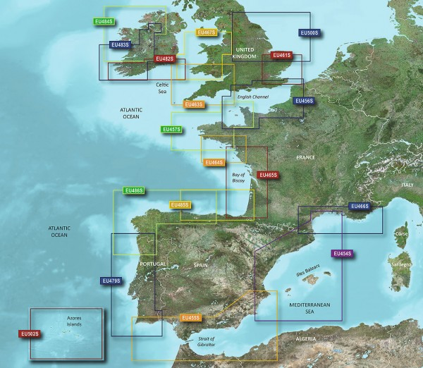 Garmin g2 Vision BlueChart Modul VEU502S Azores Islands