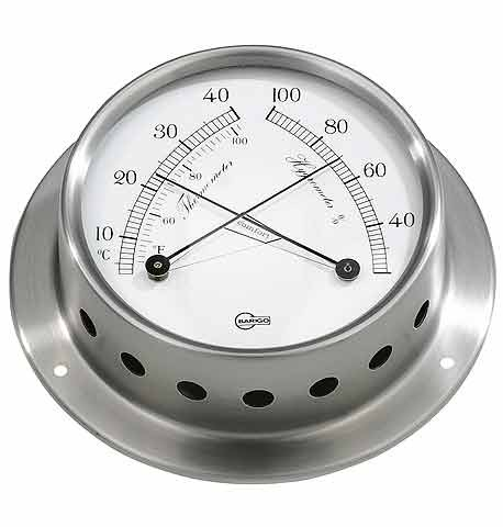 Stainless Steel Thermometer/ Hygrometer