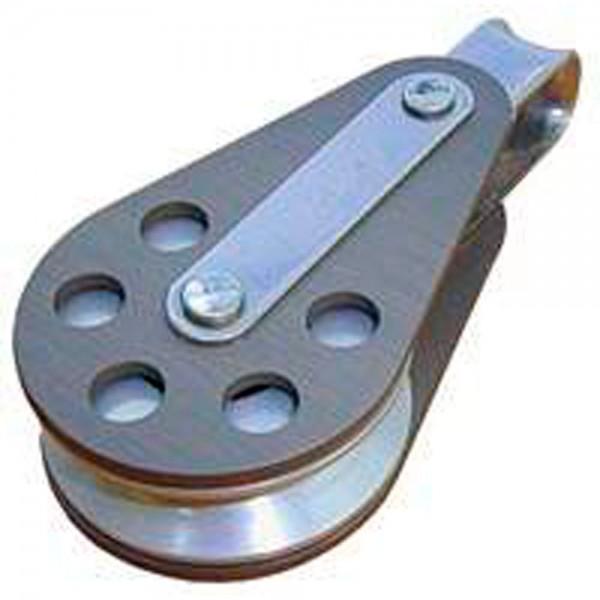 Einfach Block Auge Aluminium Schäkel