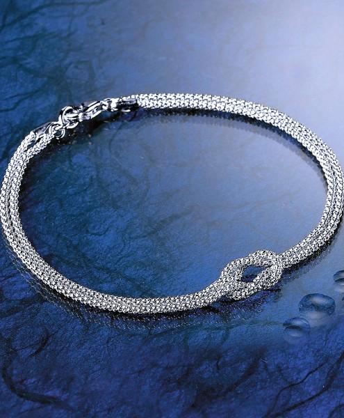 Armband Kreuzknoten 925/Silber