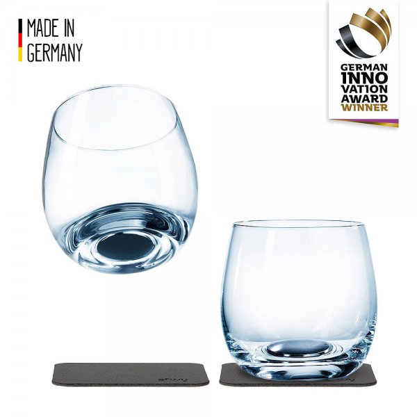 Whiskey glass with magnet, set of 2