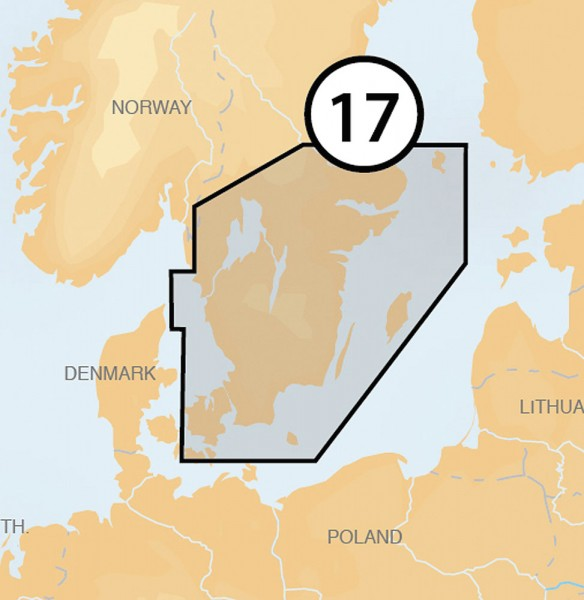 Navionics Platinum +: 17P+ sud de la Suède