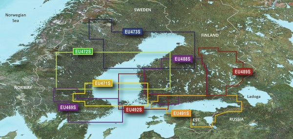 Garmin g2 Vision BlueChart Modul VEU472S Gulf of Bothnia, Center