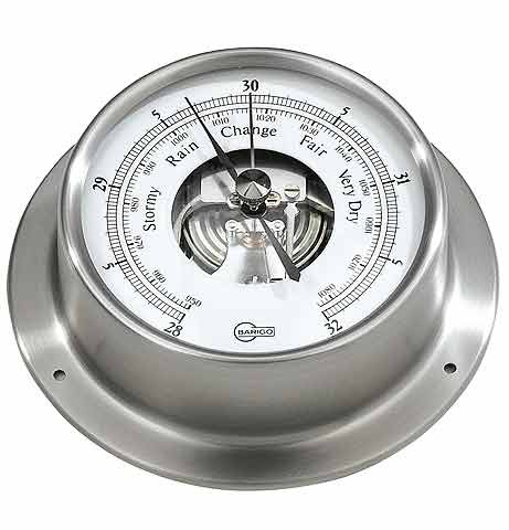 BARIGO Edelstahl Barometer