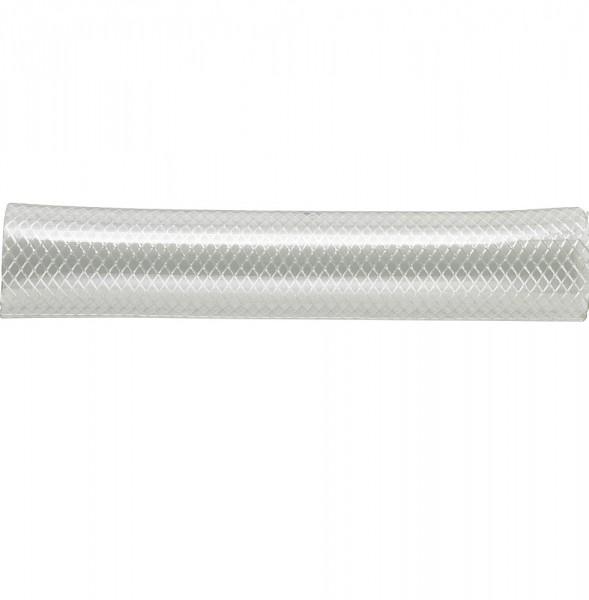 Transparenter PVC-Schlauch mit Gewebeeinlage