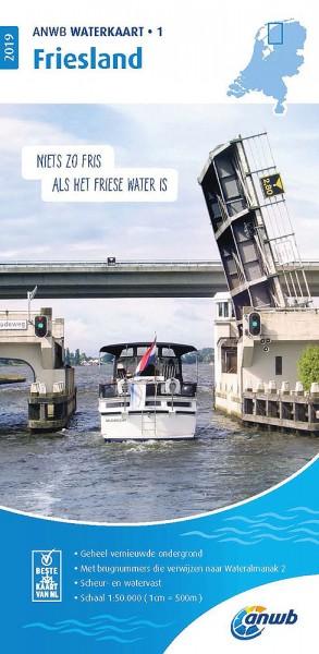 ANWB Waterkaart #1 Friesland
