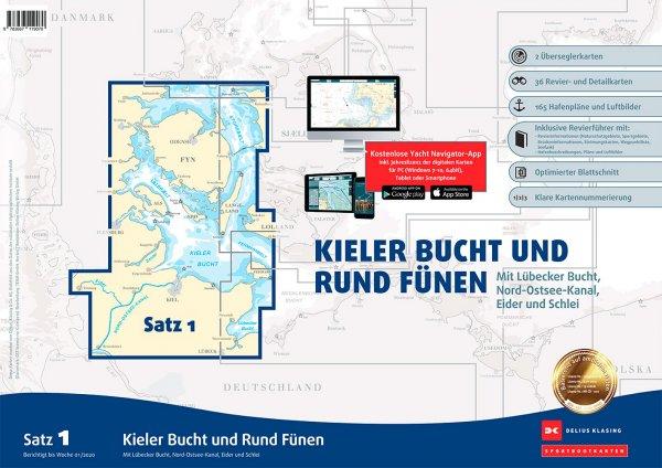 Delius Klasing Satz 1: Kieler Bucht und Rund Fünen