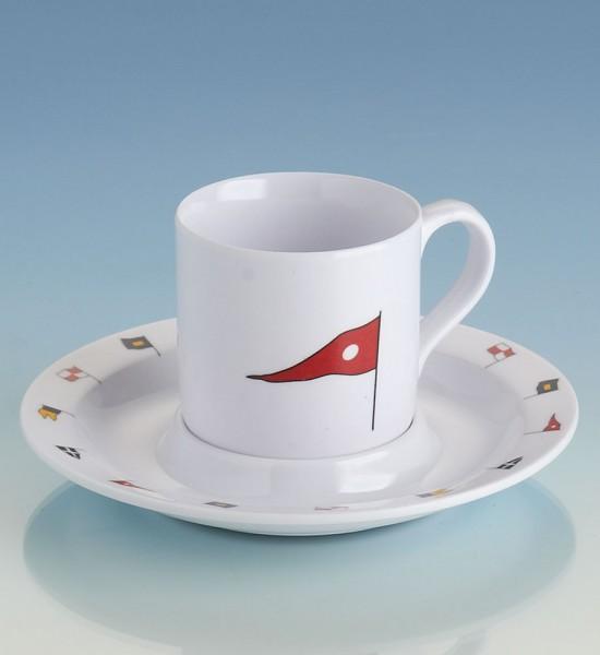 Regatta series boat crockery: espresso cup and saucer