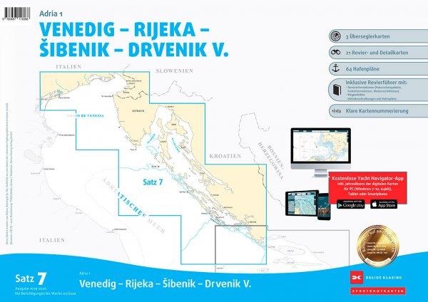 Delius Klasing Satz 7: Adria 1, Venedig Rijeka Sibenik Drvenik V.