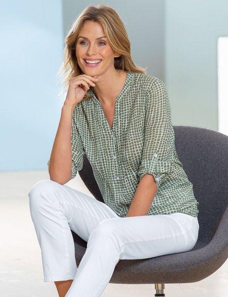 Anna Larssen Shirtbluse mit Alloverdruck
