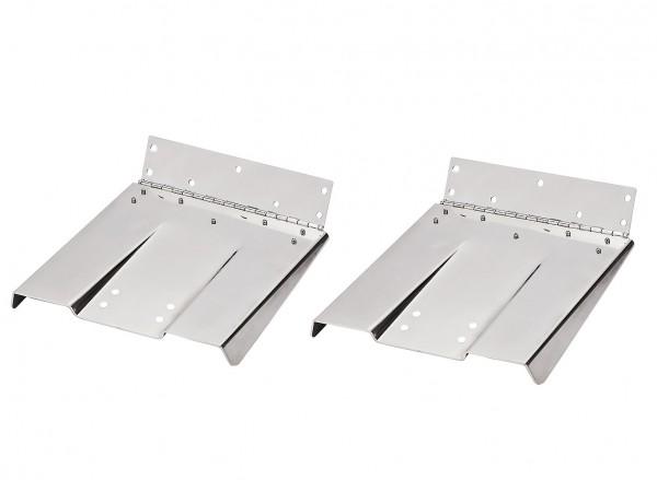 Couple flaps acier inoxydable 22,8 x 22,8 cm, bateaux 4,5 -5,5 m