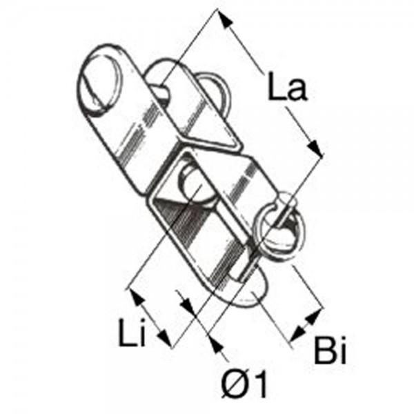 WI-Wirbelschäkel Innensechskant