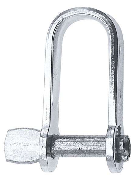 Shackle with undetachable bolt