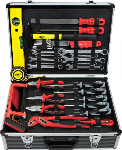 Tool case with socket wrench