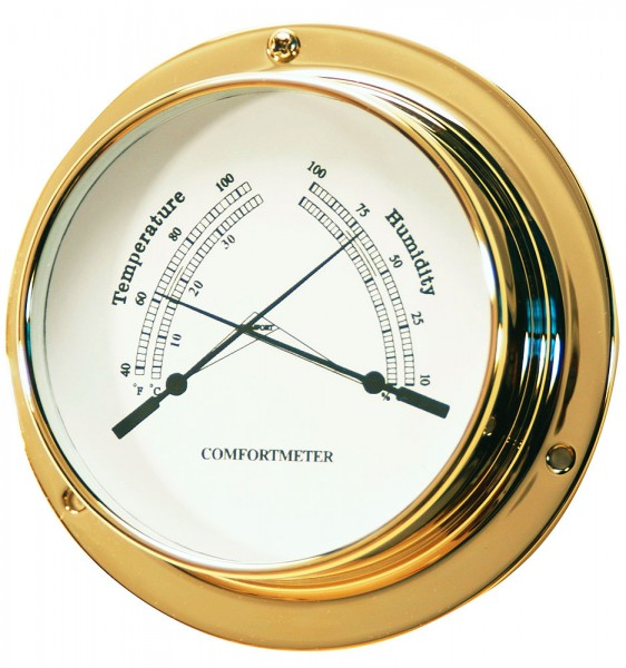Brass thermometers / hygrometers
