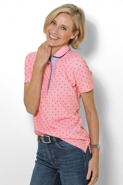 Poloshirt mit Tupfendessin