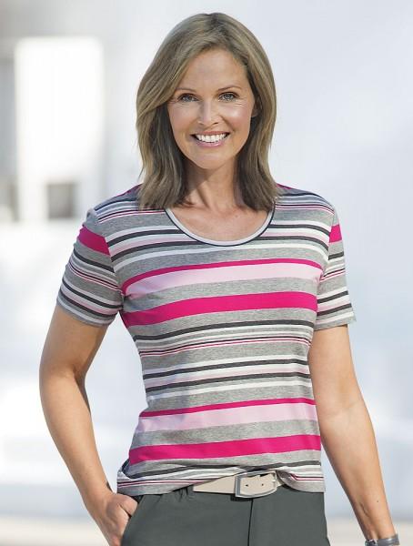 Annabell Streifen-Shirt, Halbarm