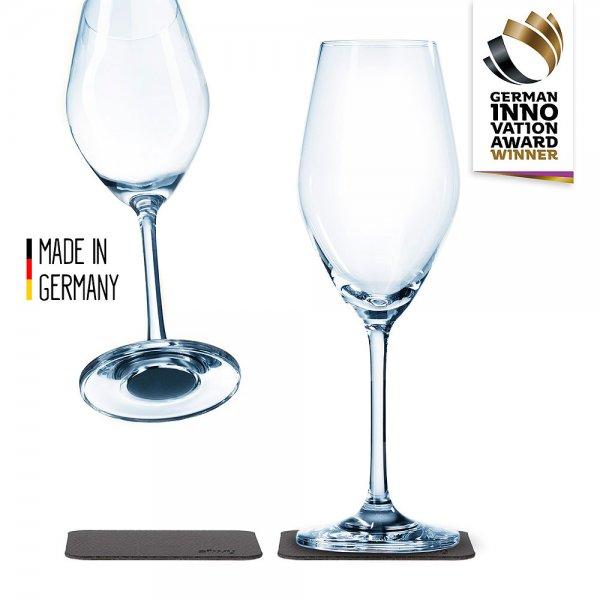 Silwy Champagnerglas mit Magnet, 2er-Set