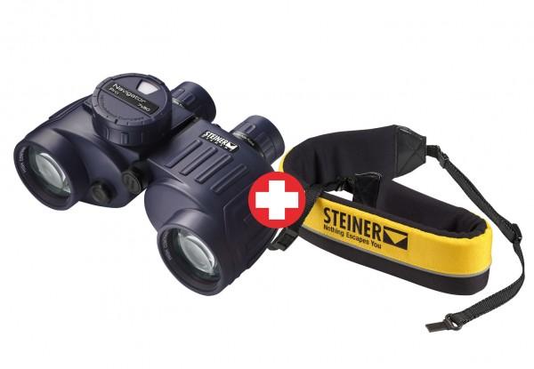 Lornetka Navigator Pro 7x50 z kompasem + Pas wypornościowy - Steiner