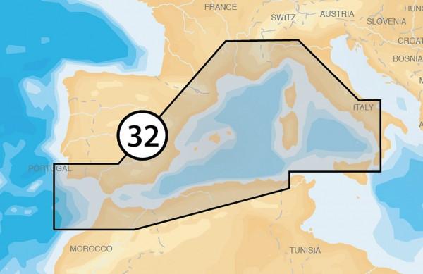 Navionics Platinum +: 32P+ Westliches Mittelmeer
