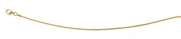Schlangenkette 45 cm Gelbgold