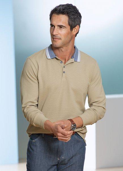 DANIEL HECHTER Langarm-Poloshirt