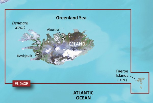 Garmin g2 BlueChart microSD/SD HXEU043R Iceland and Faeroe Islands