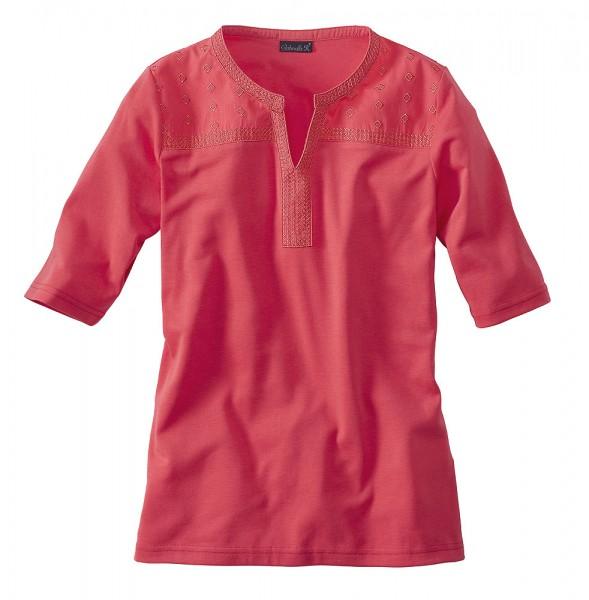 T-Shirt, Halbarm, V-Ausschnitt