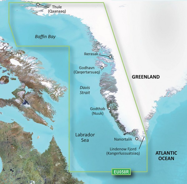 Garmin g2 BlueChart microSD/SD HXEU058R Greenland West