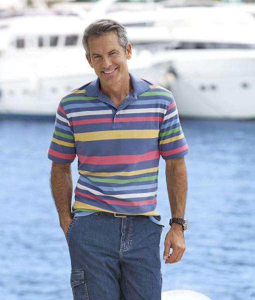 C.S. Streifen-Poloshirt