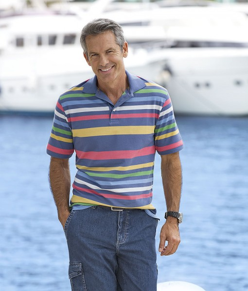 Capt. Scott Streifen-Poloshirt