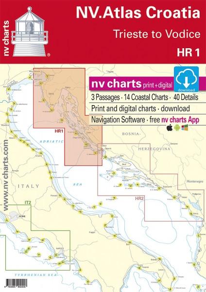 NV. Atlas Kroatien HR1 - Triest nach Vodice