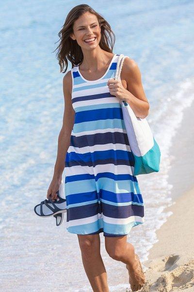 Streifen-Strandkleid