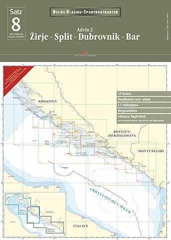 Delius Klasing Satz 8: Adria 2, Zirje Split Dubrovnik Bar
