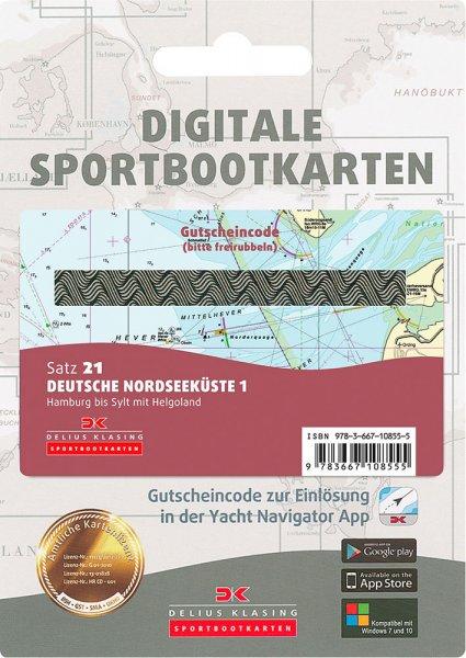 Digitale Sportbootkarte Satz 21