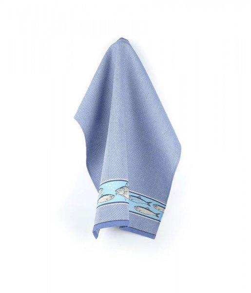 Tea towel Fish Royal 65x65cm