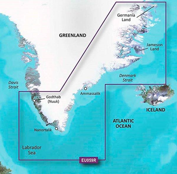 Garmin g2 BlueChart microSD/SD HXEU059R Greenland East