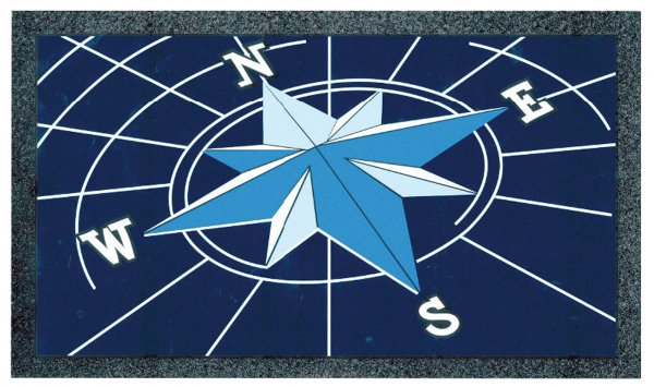 Doormat compass rose