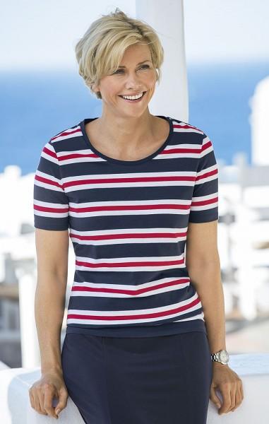 Streifen-Shirt, Halbarm