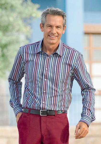 Haupt Langarm-Hemd, gestreift