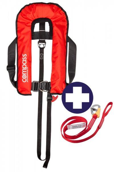 Set Compass Professional 300N plus Lifeline mit Haken/Schlaufe und Overload Indikator