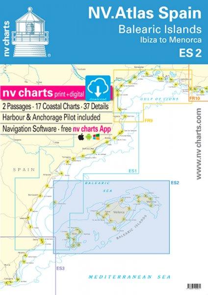 NV. Atlas Spanien ES 2 - Balearen · Ibiza nach Menorca