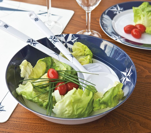 Northwind salad bowl with cutlery (Ø 25 cm)