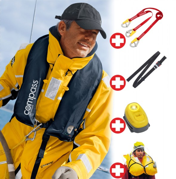 Compass Offshore automatic life jacket set